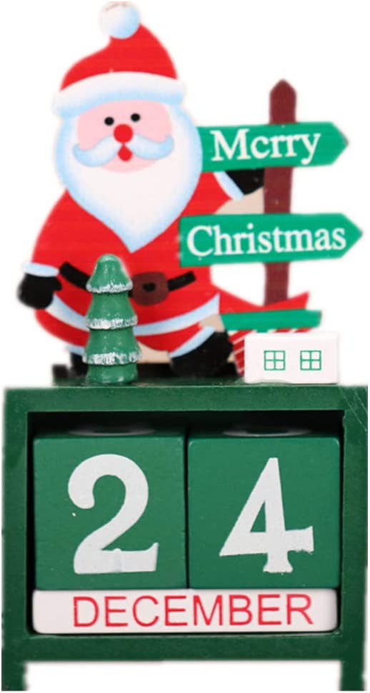 Santa Claus Countdown Blocks