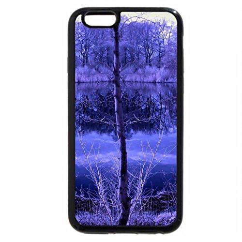 iPhone 6S Case, iPhone 6 Case (Black & White) - Horizontal of Lake Infrared