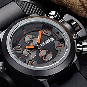 Megir Sport Watch For Men Analog Silicone - MJM002