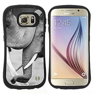 "Hypernova Slim Fit Dual Barniz Protector Caso Case Funda Para Samsung Galaxy S6 [Blanco Negro Love Family África""]"
