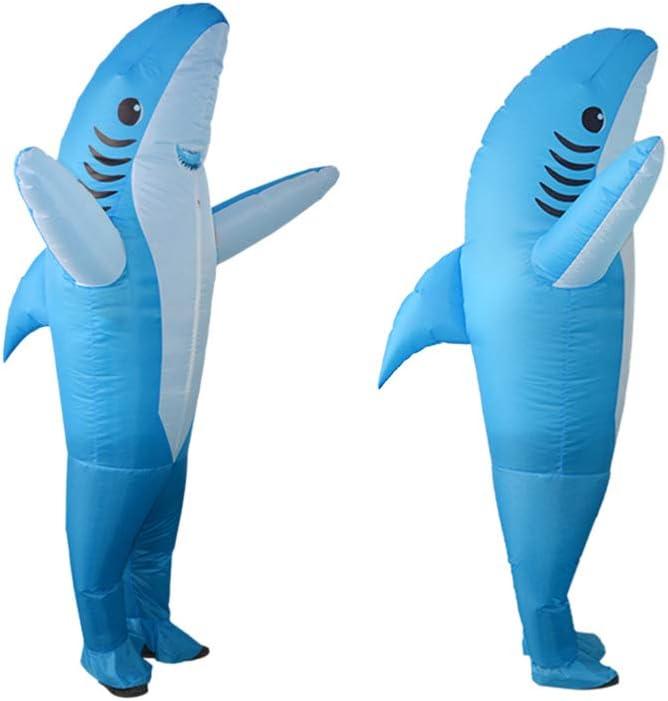 Amosfun Disfraz Inflable explotar Disfraz de tiburón delfín Juego ...