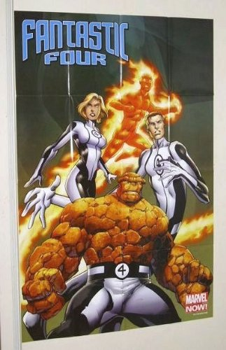 Fantastic Four 36 by 24 inch Marvel Universe comic book shop promotional promo poster 2: Mr Fantastic/Invisible Girl/Human Torch/The Thing]()