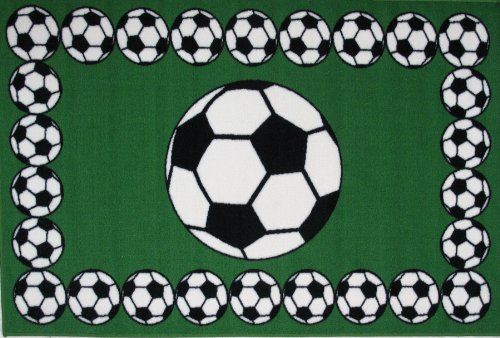 Fun Rugs Soccer Time Accent Rug, 19-Inch by 29-Inch 29' Nylon Rug
