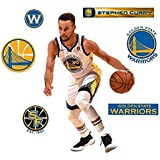 e1eca80b579b Stephen Curry FATHEAD + Golden State Warriors Logo Set Official NBA Vinyl  Wall Graphics 17
