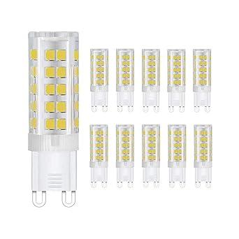 ChaudAc Ampoules Led50w Faisceau Remplacement44 ° Angle 5w 22040v360 Lumineux Halogène Super Leds3000k G9 Blanc De bg7yf6