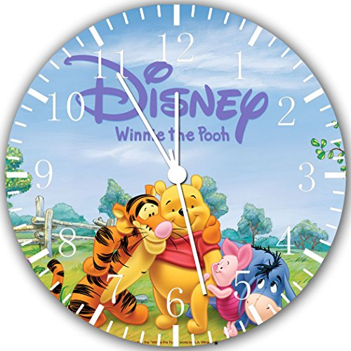 (Winnie The Pooh Frameless Borderless Wall Clock W272 Nice for Gift or Room Wall Decor)