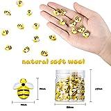 45 Pieces Tiny Resin Bees Decor Bumblebee