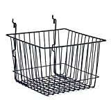 Lot of 5 New Black Basket fits Slatwall,Grid,Pegboard 12''w x 12''d x 8''h