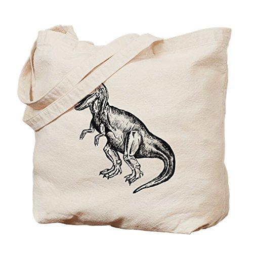 CafePress - T-Rex - Natural Canvas Tote Bag, Cloth Shopping