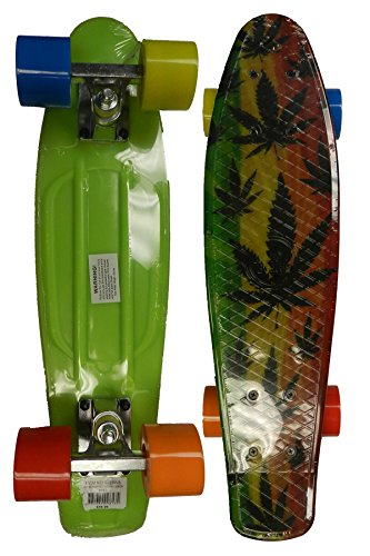 Retro Boards Youth Weed Series Skateboards, Green, 22""