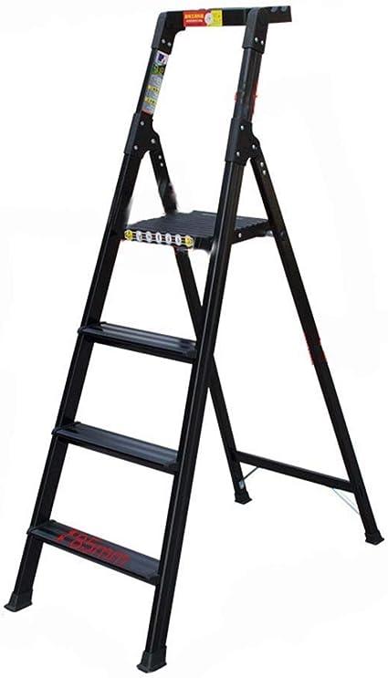 RMXMY Escalera de espiga plegable para el hogar, escalera de escalón plegable de 3/4 escalones con empuñadura de goma y pedales antideslizantes anchos Escalera de acero resistente, capacidad ligera: Amazon.es: Coche y