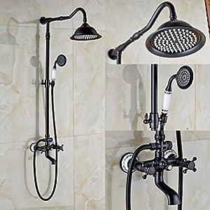 Rozin Oil Rubbed Bronze Bathroom Shower Faucet Set 8 Inch