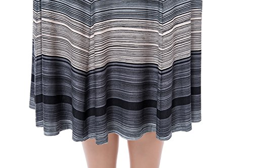 8bb72e7fb79 Chicwe Women s Plus Size A Line Flared Knee Long Skirt with Stretch  Waistband 16