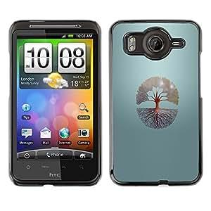// PHONE CASE GIFT // Duro Estuche protector PC Cáscara Plástico Carcasa Funda Hard Protective Case for HTC G10 / Árbol de la vida /