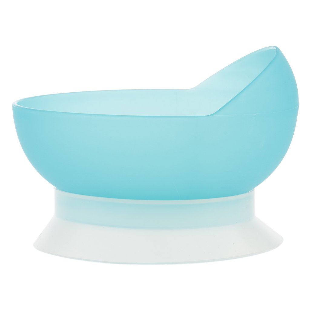 MagiDeal PP Plastic Anti-Slip Bowl for Stroke Hemiplegia Patients Disabilities, Elderly Dine Assistive Tableware with Strong Suction Cup Base, Sky Blue by Unknown