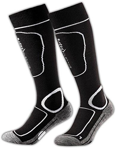 Black Crevice Erwachsene Skisocken, schwarz/weiß, 43-46, BCR1133-3-BW
