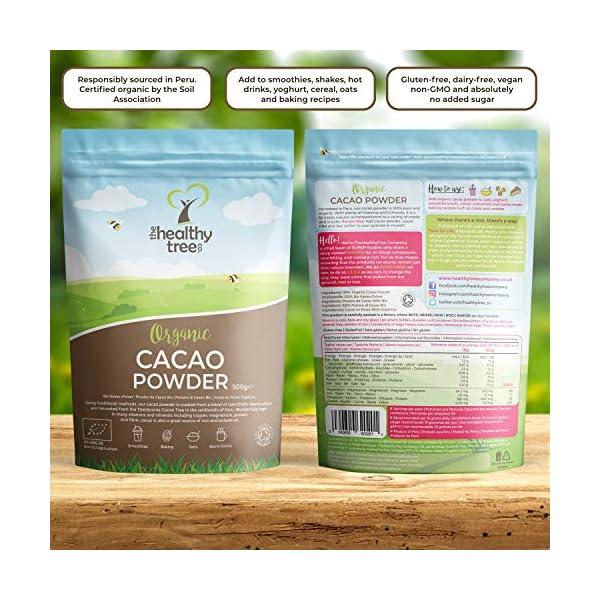 Polvere di Cacao Crudo Bio di TheHealthyTree Company per Yogurt, Frullati e Ricette da Forno - Alto Contenuto di… 4 spesavip