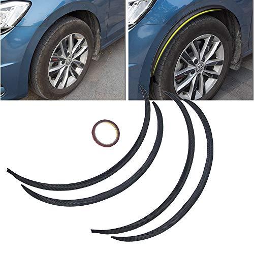 cs 73Cm Rubber Carbon Fiber Car Wheel Eyebrow Protector Lip Arch Trim Flare Fender Strip For Vw Audi Ford Toyota Chevrolet ()