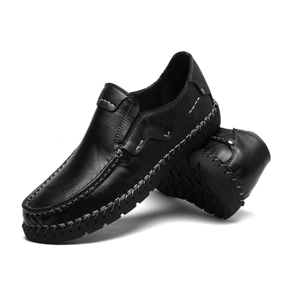Qiusa  Herren Casual Breathable Breathable Breathable Formale Geschäft handgemachte echte Leder Loafers (Farbe : Schwarz, Größe : EU 42) Schwarz 6d854a