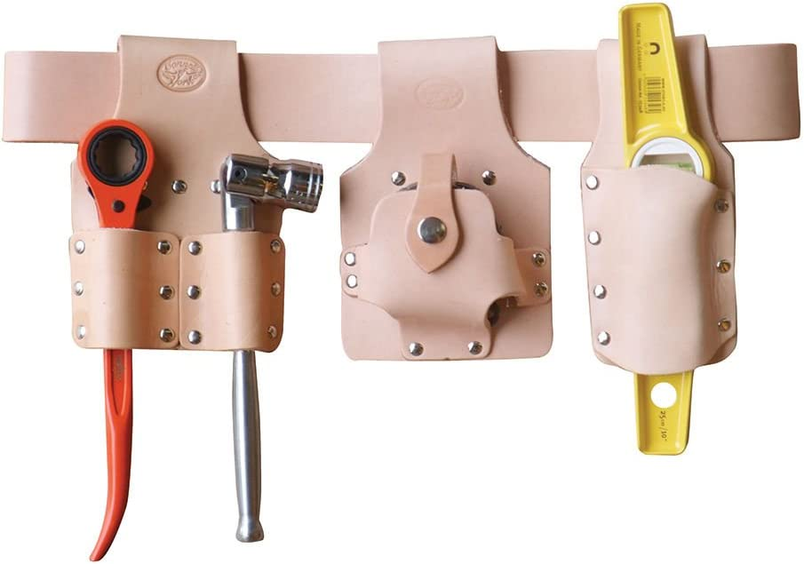 Connell of Sheffield Deluxe Leather Large Tape Holder For Scaffolders