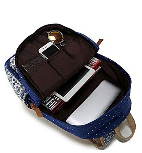 77c13130834b Ulgoo School Backpacks Canvas Teen Girls Backpacks Casual Shoulder bags