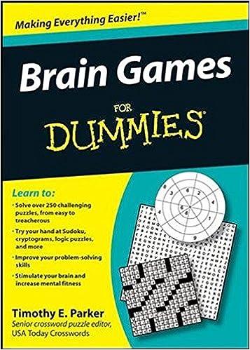 Brain Games For Dummies Timothy E Parker 9780470373781 Amazon