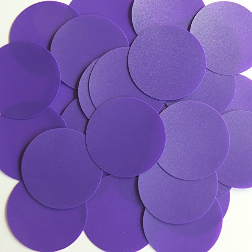 "Round Sequin 2"" Purple Opaque Vinyl Loose Couture Paillettes"
