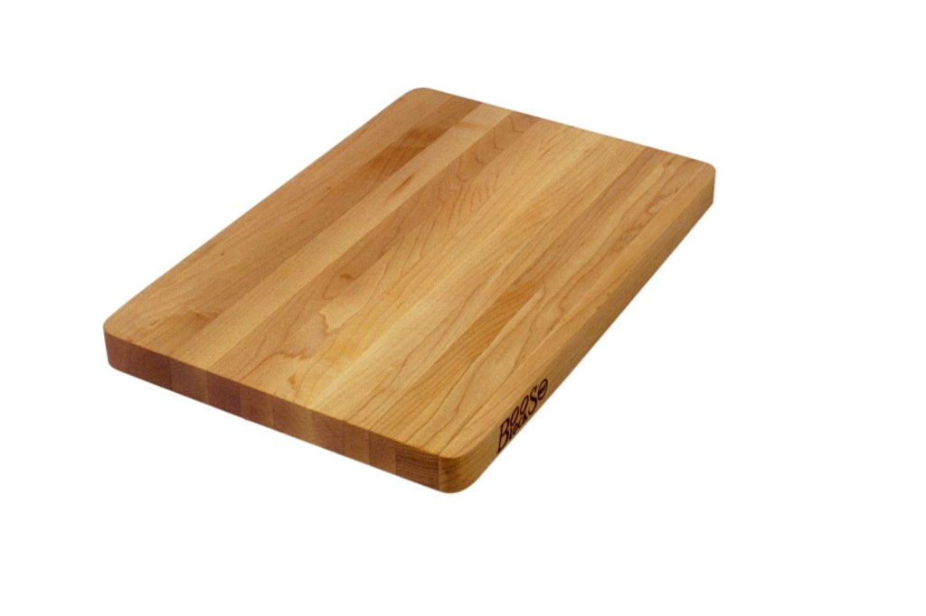 John Boos Block 211 Chop-N-Slice Maple Wood Edge Grain Reversible Cutting Board, 10 Inches x 5 Inches x 1 Inches