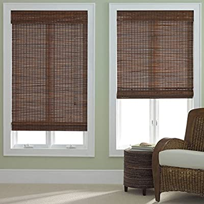 Window Blind Store Bamboo Roman Shade - Light filtering design; not recommended in windows where a high level of privacy is required Breakaway cords for child safety are standard Mounting hardware included - living-room-soft-furnishings, living-room, draperies-curtains-shades - 51o3JYDrCOL. SS400  -