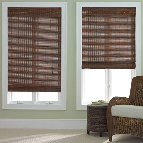 Bamboo Roman Shade Pecan (Bamboo Window Treatments)