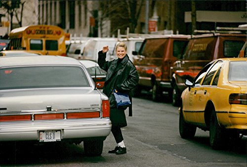 (Vintage photo of A happy Christy Brinkley on Madison Avenue)