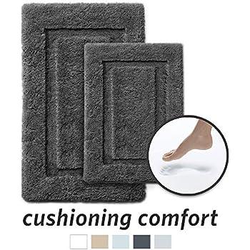 Amazon Com Home Dynamix Dark Gray Memory Foam Bath Mat