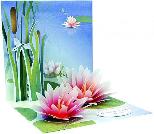 3D Greeting Card - WATER LILY - All Occasion