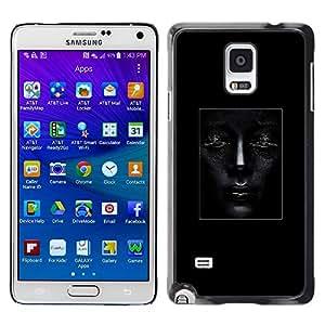 LECELL--Funda protectora / Cubierta / Piel For Samsung Galaxy Note 4 SM-N910 -- Art Woman Fashion Design Poster --