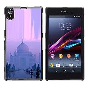EJOY---Cubierta de la caja de protección la piel dura para el / Sony Xperia Z1 L39 / --Templo indio
