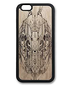 Custom Iphone 6 Case,Beautiful animals and humans TPU Black Iphone 6 Cases