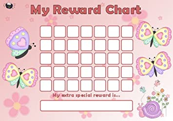 Wooden Butterfly £1 Reward Chart-Child-Kids-Toddlers-Mdf-Chart-Childrens S263
