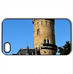 Babelsberg Park Tower - Case Cover for iPhone 4 and 4s (Medieval Series, Watercolor style, Black)