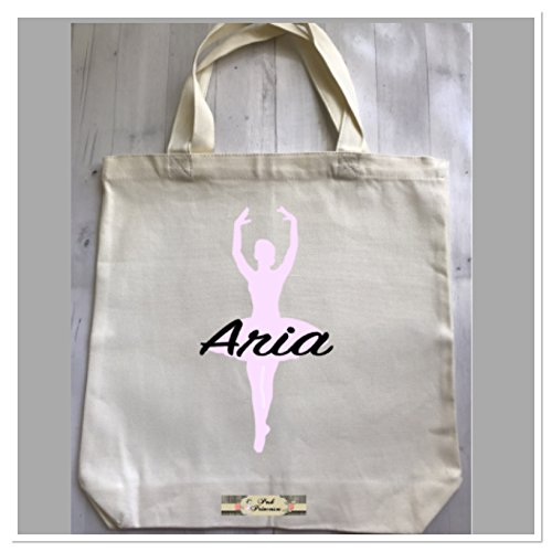 Personalized Ballet Dance Bag, Ballerina Bag, Dance Gift. Canvas Tote Girl Gift by Custom Bow Holders & More