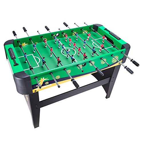 Action Foosball Soccer Table (Pinty 48''/50'' Foosball Table Competition Sized Soccer Table Game & 72''/84'' Air Hockey Table for Kids & Adults Use Game Room)