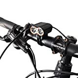 Super Bright USB Bike Light - 2000 POWERFUL Double lights Bicycle Headlight - 2000 Lumens LED Front Light. Waterproof, Easy Installation for Cycling Safety Flashlight