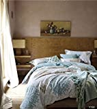 GrandLinen 3-Piece Fine printed Duvet Cover Set KING SIZE - 1500 series high thread count Brushed Microfiber - Luxury, Soft, Durable (Blue, Blue, Grey Scroll)