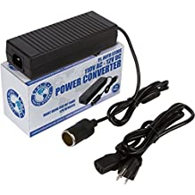 P.I. Auto Store 110V AC - 12V DC Power Inverter / Adapter / Converter 10 Amp. For Air Compressor,Tire Inflator, Electric Seat Warmer, RV refrigerator, Car TV, Vacuum cleaner, and more.
