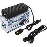 P.I. AUTO STORE 110V AC - 12V DC Power Inverter Adapter Converter 10 Amp. for Air Compressor,Tire Inflator, Electric Seat Warmer, RV refrigerator, Car TV etc.