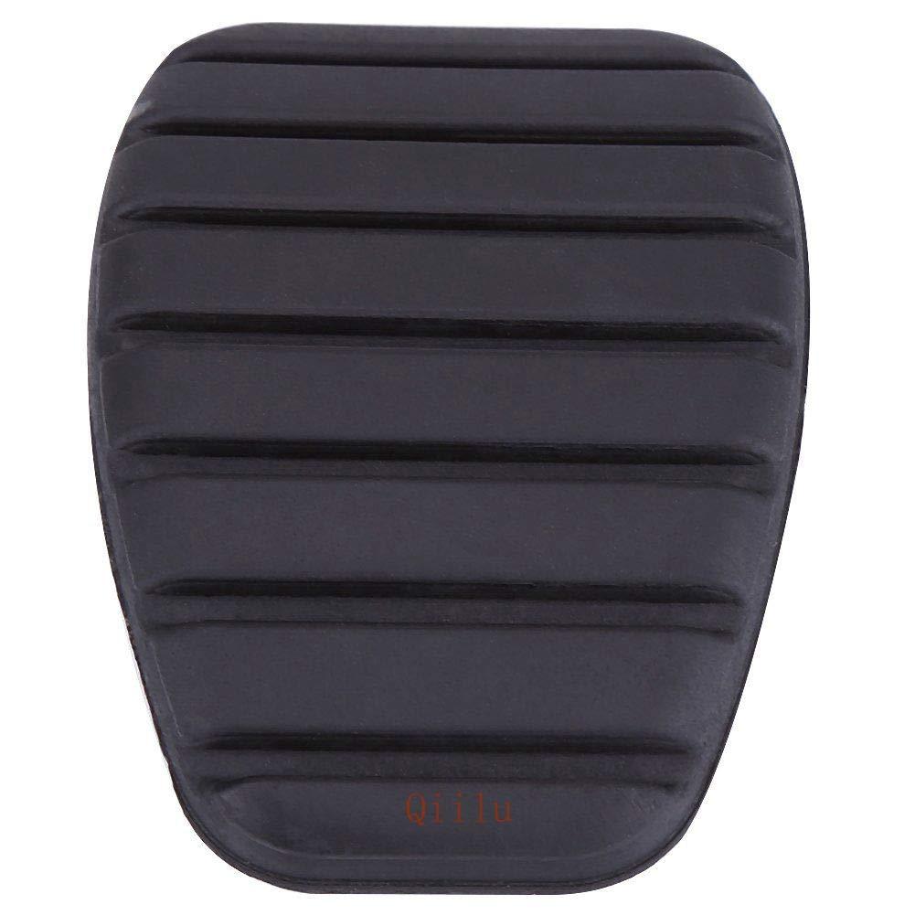 Qiilu Clutch Brake Pedal Rubber Pad Cover for Renault Megane Laguna Clio Kango Scenic