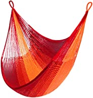 "Yellow Leaf Hammocks - ""Sedona"" Hammock, Hanging Chair Hammock Swing, Fits 1 Person (330 lbs), Red & Orang"