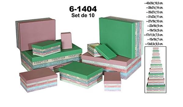 Supernova Decoracion-Set 10 cajas de cartón decorada de colores.Surtida de tamaños: Amazon.es: Hogar