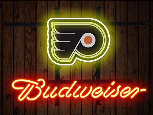 Desung Brand New 14''x10'' B udweiser Sports League P-Flyers Neon Sign (Various Sizes) Beer Bar Pub Man Cave Glass Neon Light Lamp BW48