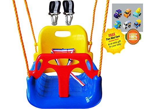 Review Littlefun 3-in-1 Infant to Teenage Detachable Upgrade Version Swing Set for Home Garden Patio...