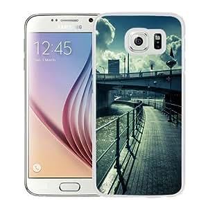 NEW Unique Custom Designed Samsung Galaxy S6 Phone Case With Water Bridge Street View Lockscreen_White Phone Case
